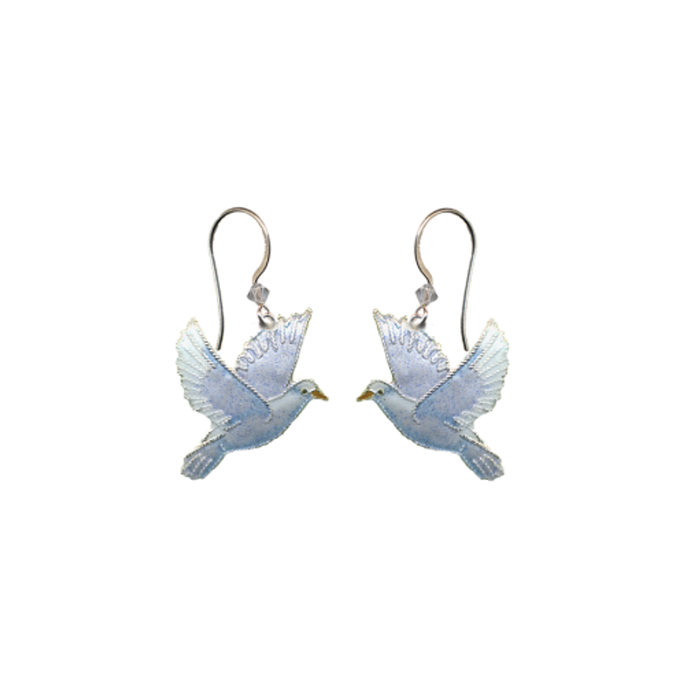 Dove Wire Earrings   Bamboo Jewelry   BJ0241e