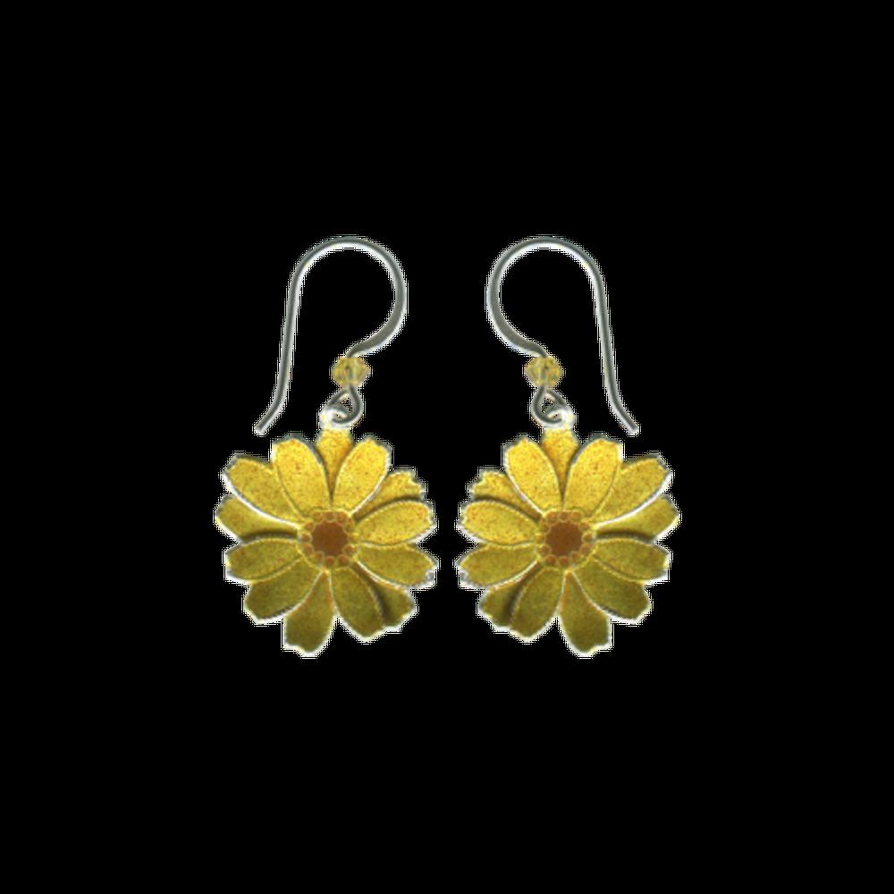Daisy Wire Earrings   Bamboo Jewelry   BJ0255e
