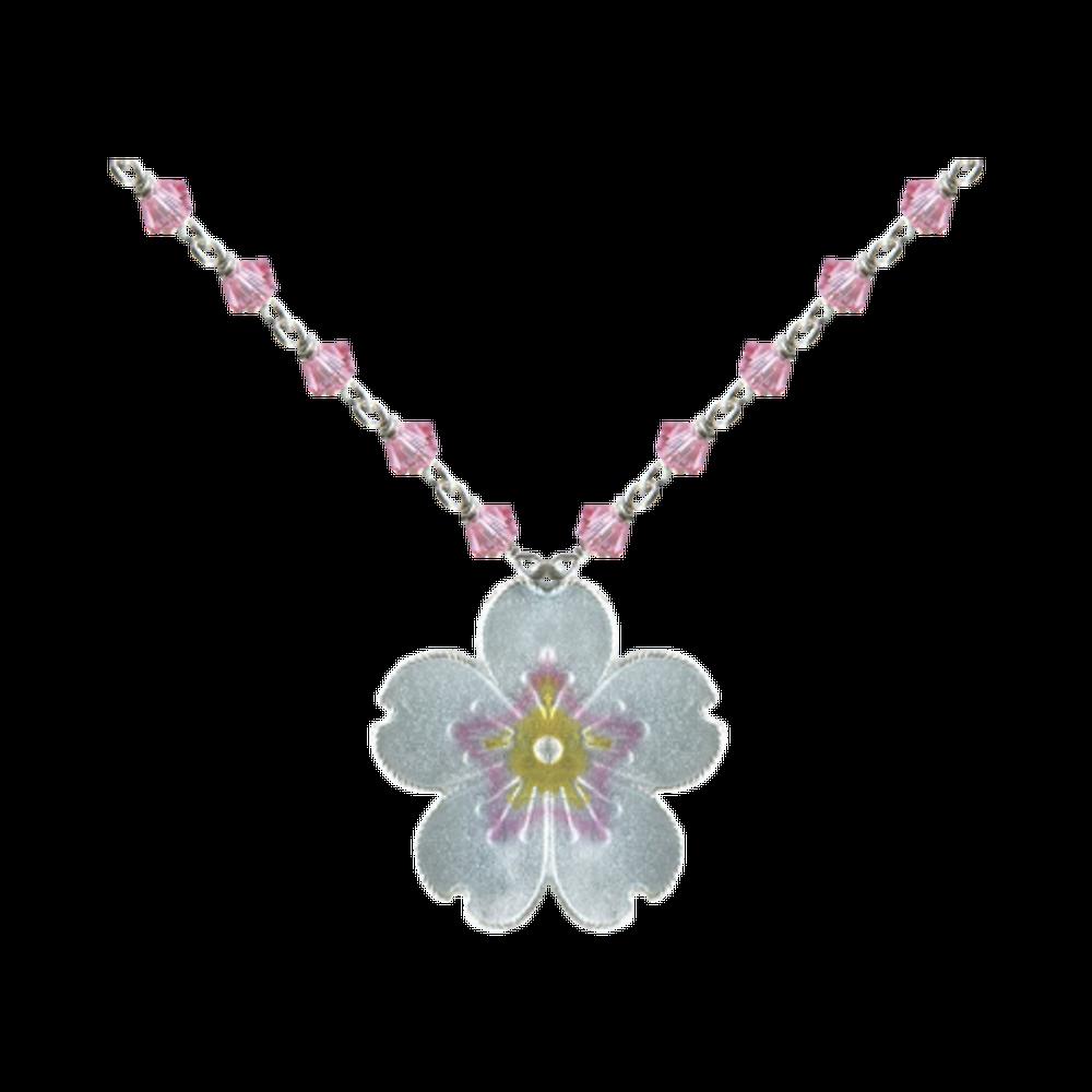 Cherry Blossom Crystal Pendant | Bamboo Jewelry | BJ0242cyn
