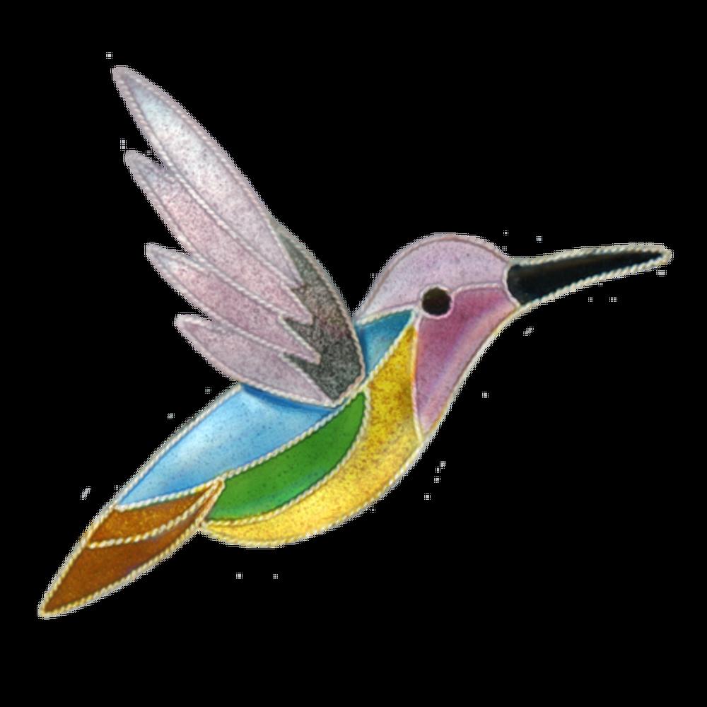 Jazz Hummingbird Pin | Bamboo Jewelry | BJ0307p
