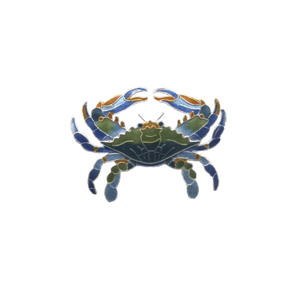 Blue Crab Pin | Bamboo Jewelry | BJ0221p