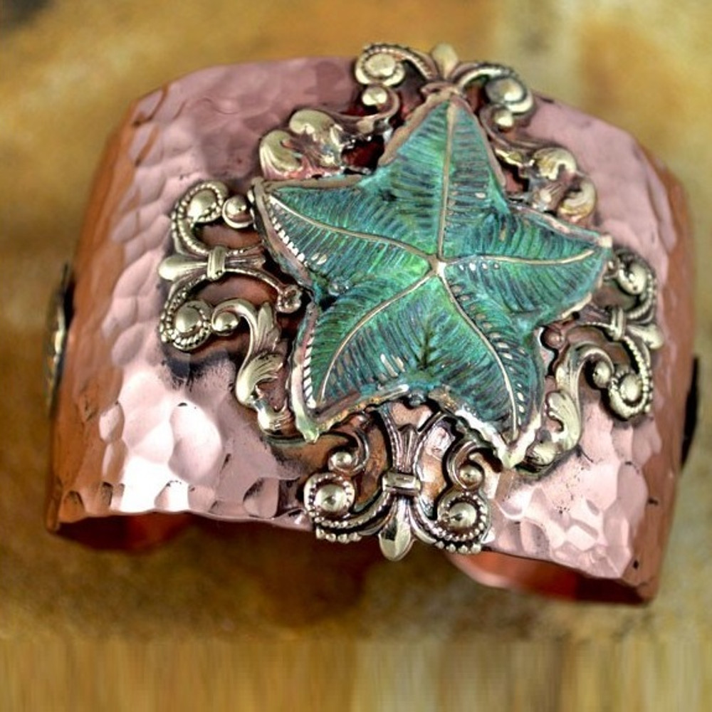 Starfish Copper and Brass Cuff Bracelet | Elaine Coyne Jewelry | NOP40cf