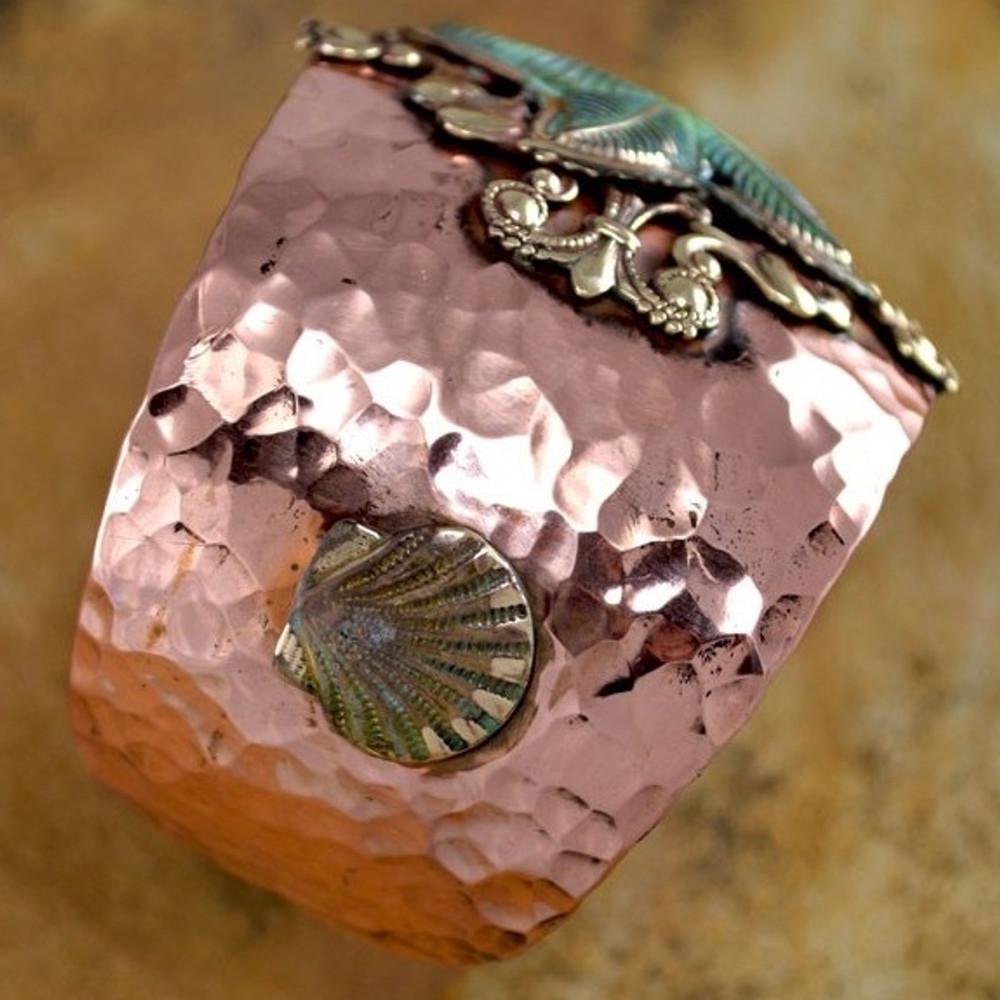 Starfish Copper and Brass Cuff Bracelet   Elaine Coyne Jewelry   NOP40cf -2