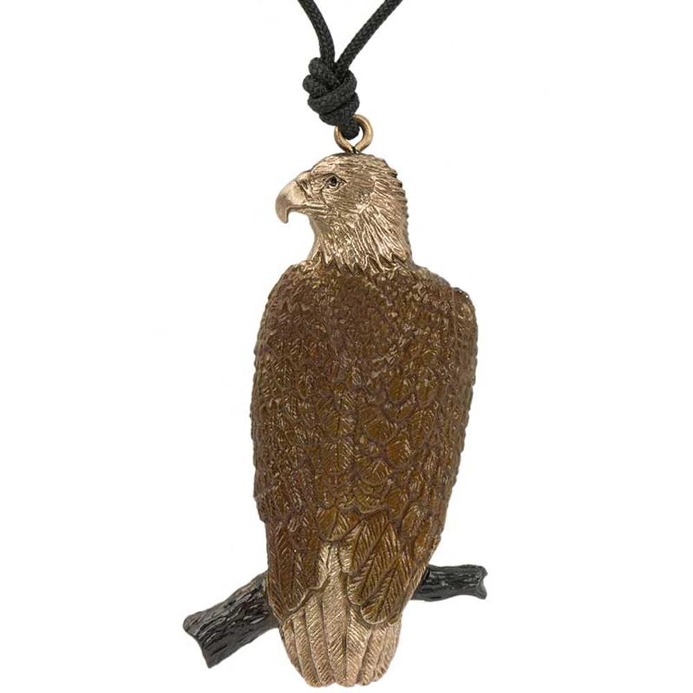Perched Eagle Pendant Necklace   Cavin Richie Jewelry   DMOKB-51-PEND