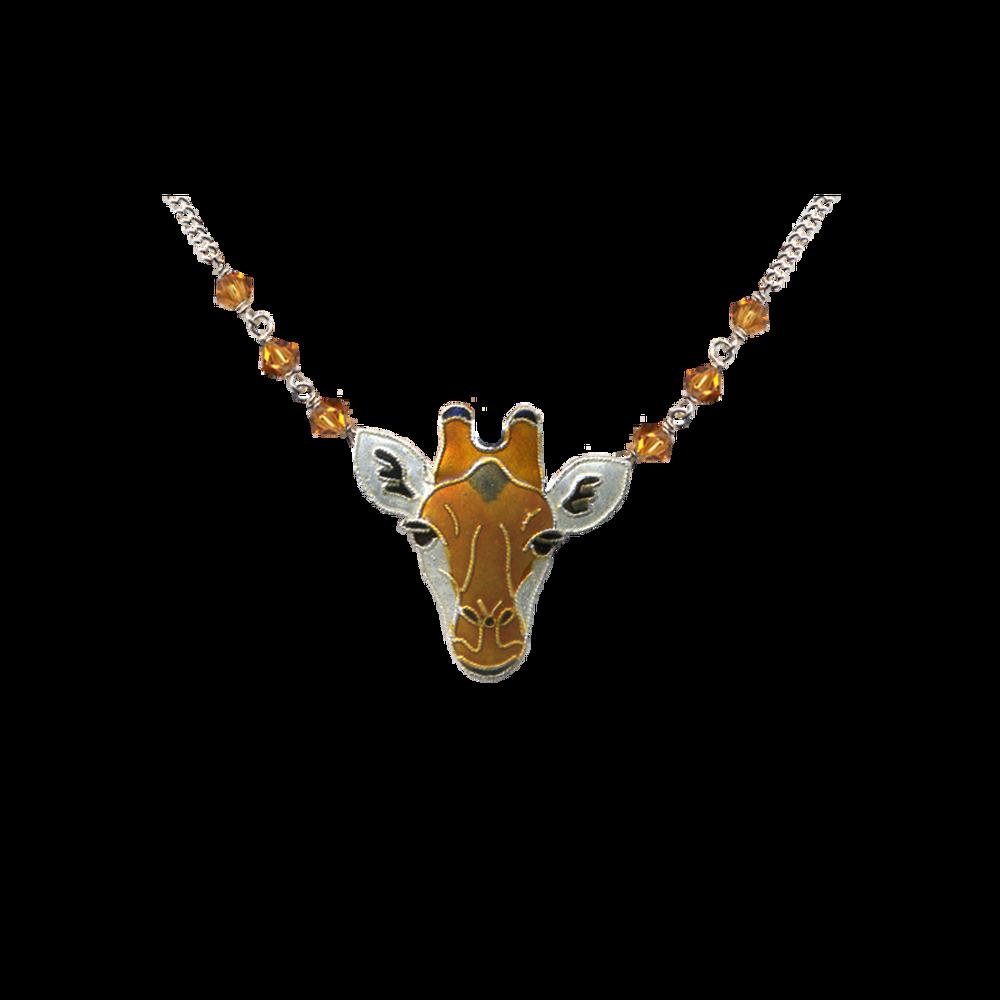 Giraffe Face Necklace   Bamboo Jewelry   BJ0214sn