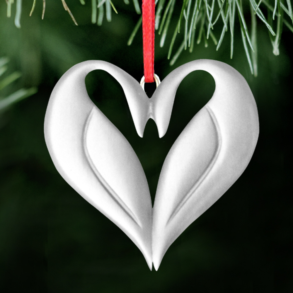 Swan Polished Pewter Ornament | Chanson D'Amour | Lovell Designs | LOVOR202