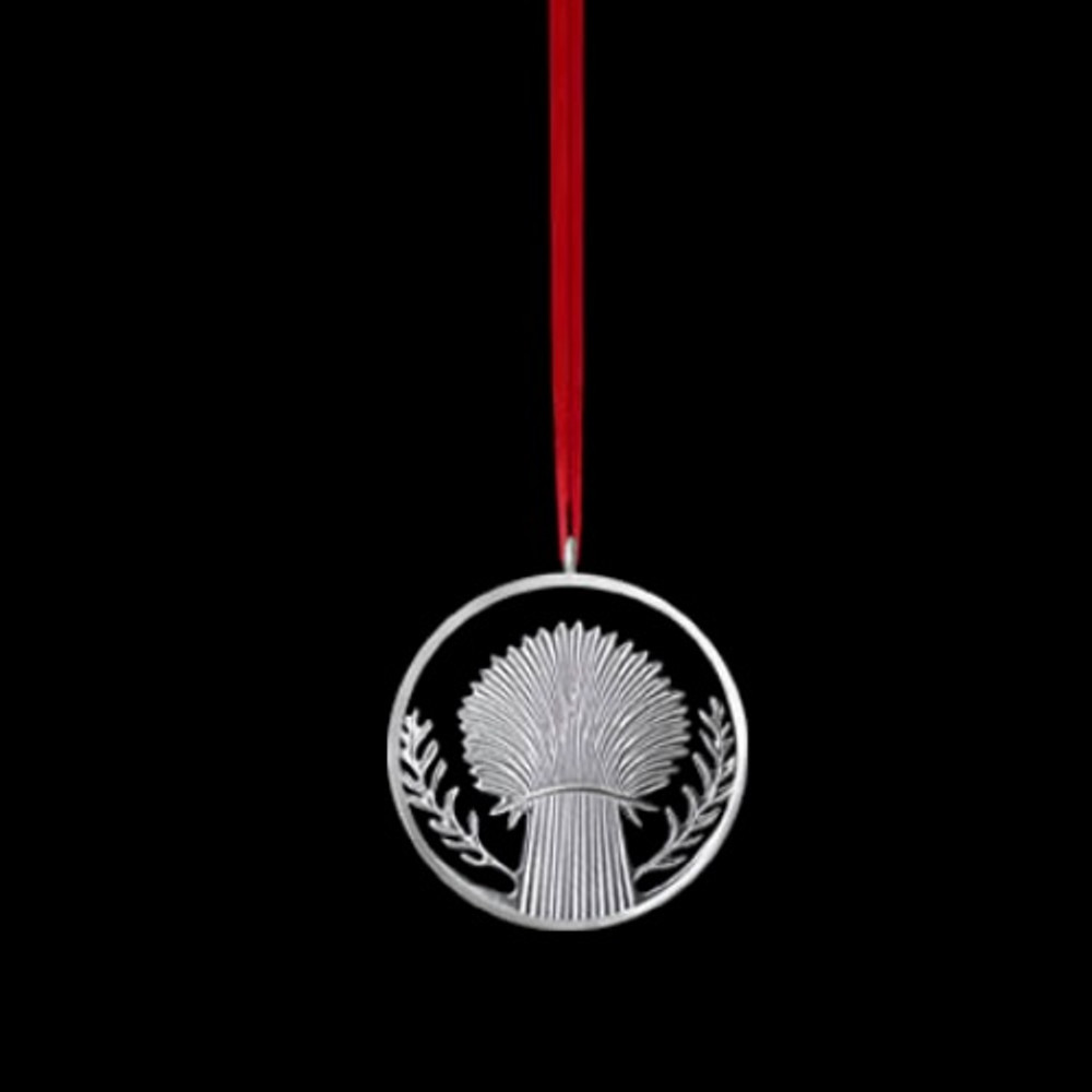 Wheat Polished Pewter Ornament | Lovell Designs | LOVOR216