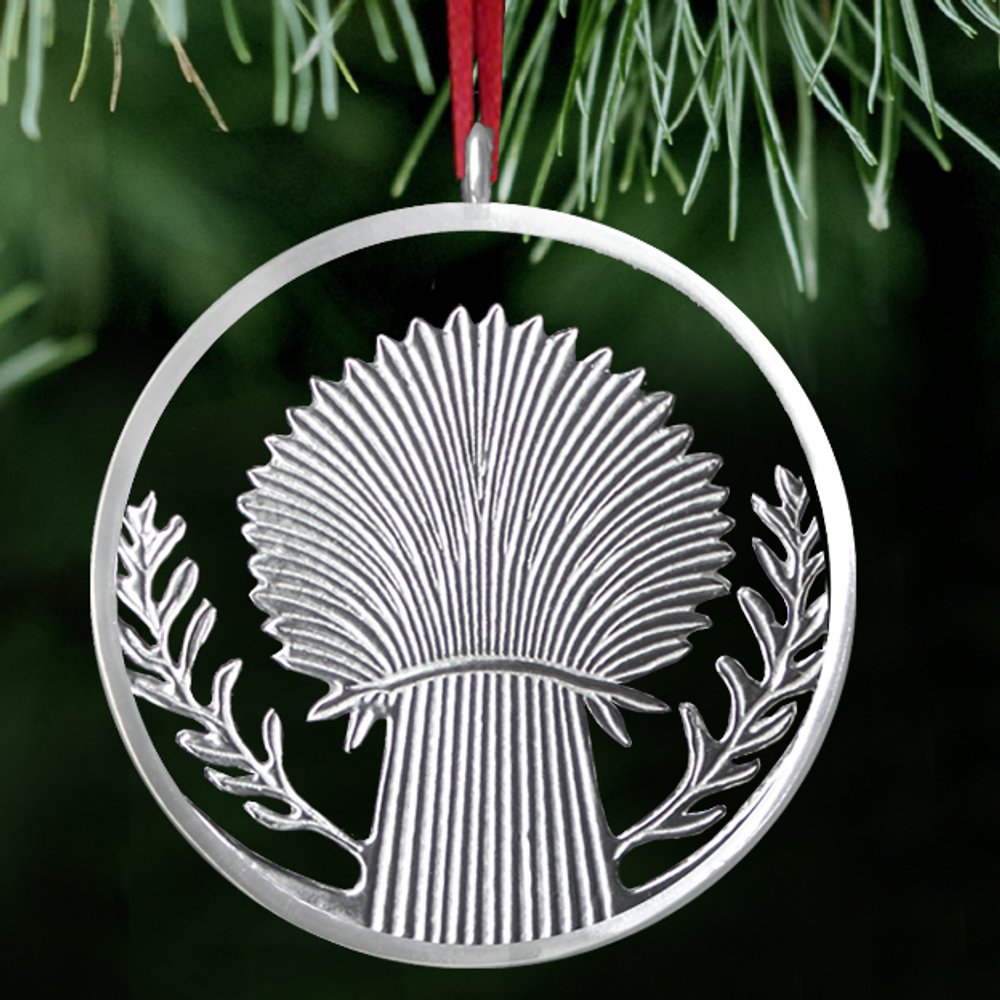Wheat Polished Pewter Ornament | Lovell Designs | LOVOR216 -2