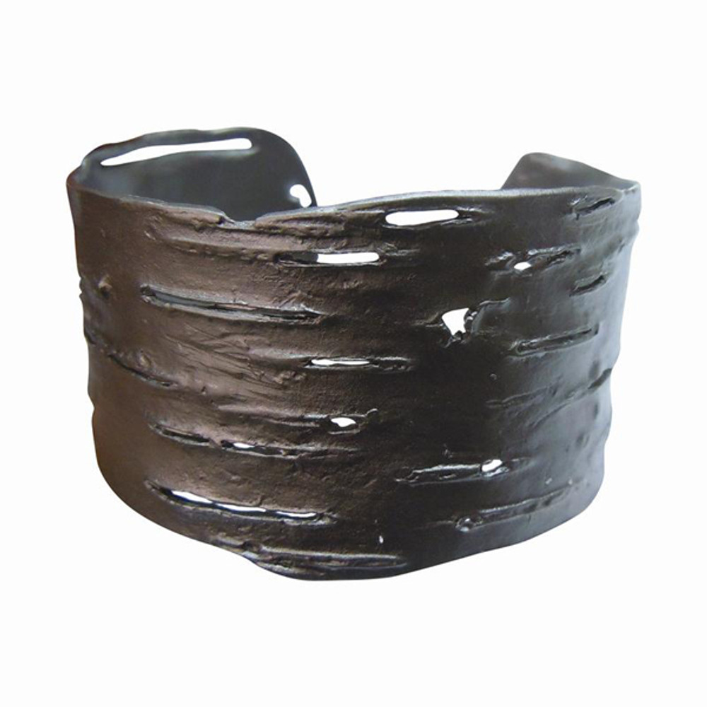 Birch Bark Gunmetal Cuff Bracelet | Michael Michaud Jewelry | SS7116GM