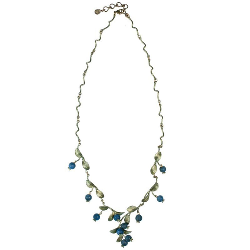 Blueberry Twigs Adjustable Necklace | Michael Michaud Jewelry | 7925BZBC
