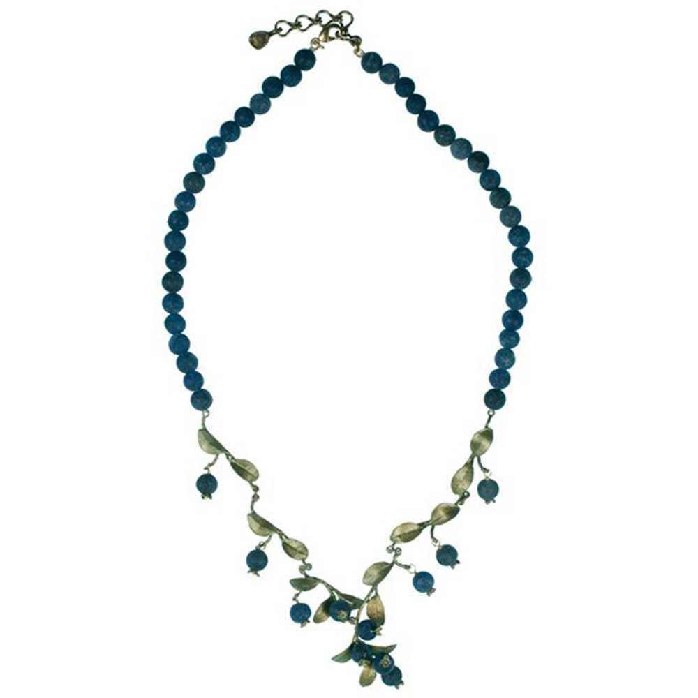 Blueberry Lapis Bead Necklace | Michael Michaud Jewelry | 7926BZBC