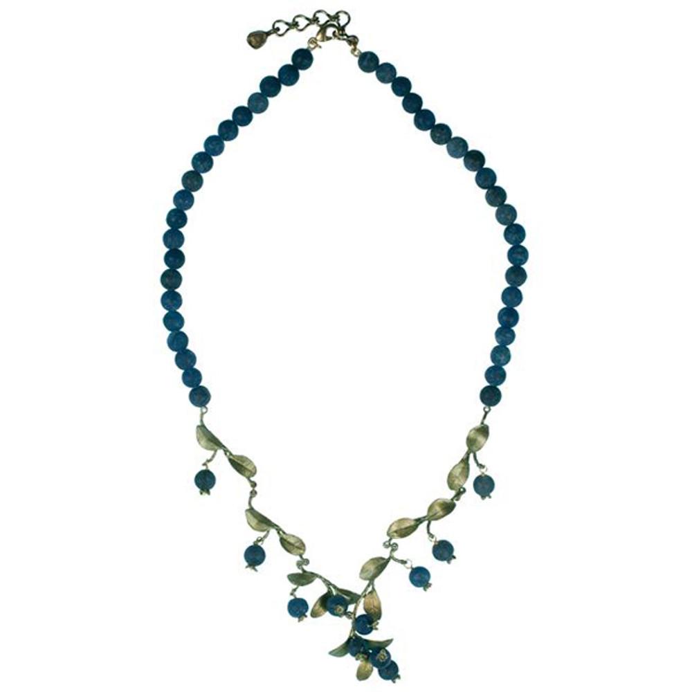 Blueberry Lapis Bead Necklace | Michael Michaud Jewelry | 7926BZBC