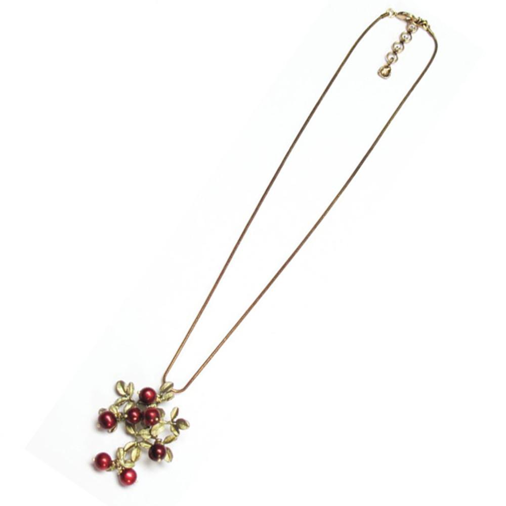 Cranberry Snake Chain Pendant Necklace | Nature Jewelry | Michael Michaud | 8054BZCR