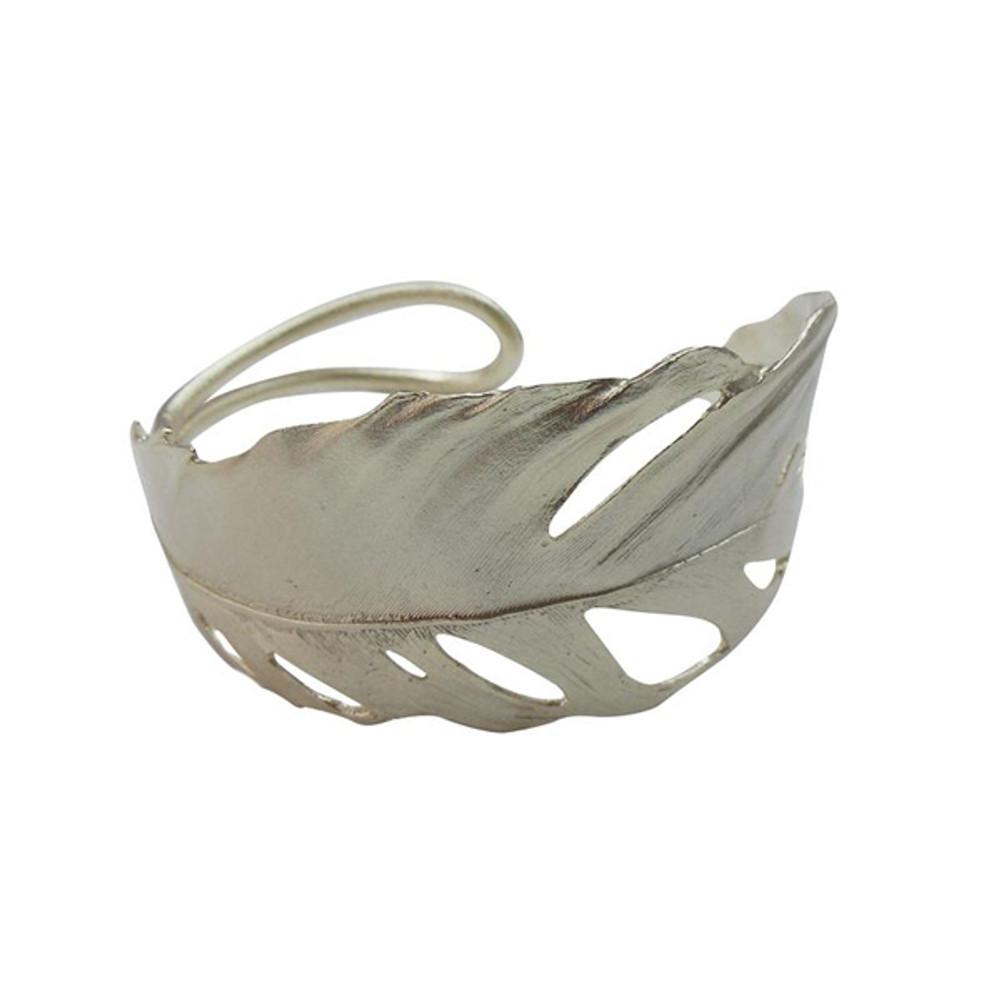 Feather Silver Cuff Bracelet | Michael Michaud Jewelry | SS7252BZSP