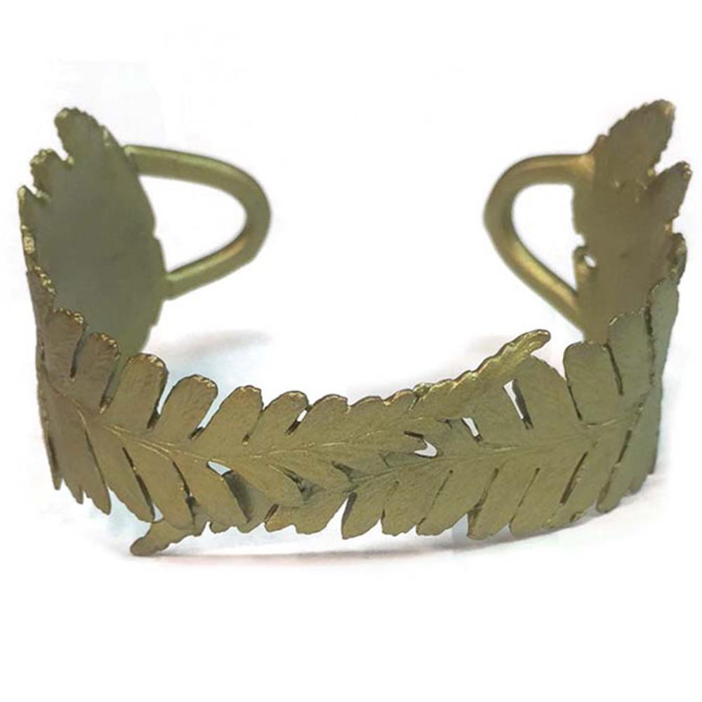 Fern Double Leaf Cuff Bracelet | Michael Michaud Jewelry | SS7263BZ