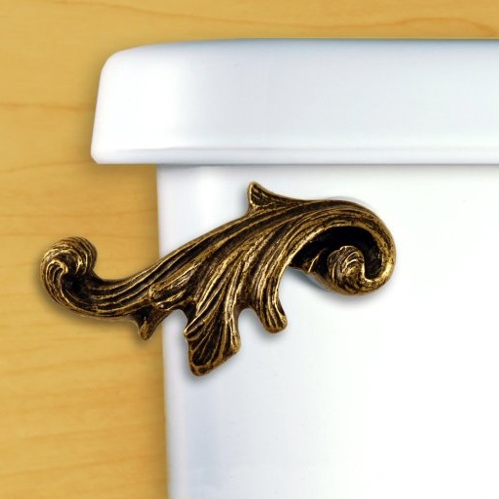 Acanthus Leaf Toilet Flush Handle | Functional Fine Art | ffa00151ab