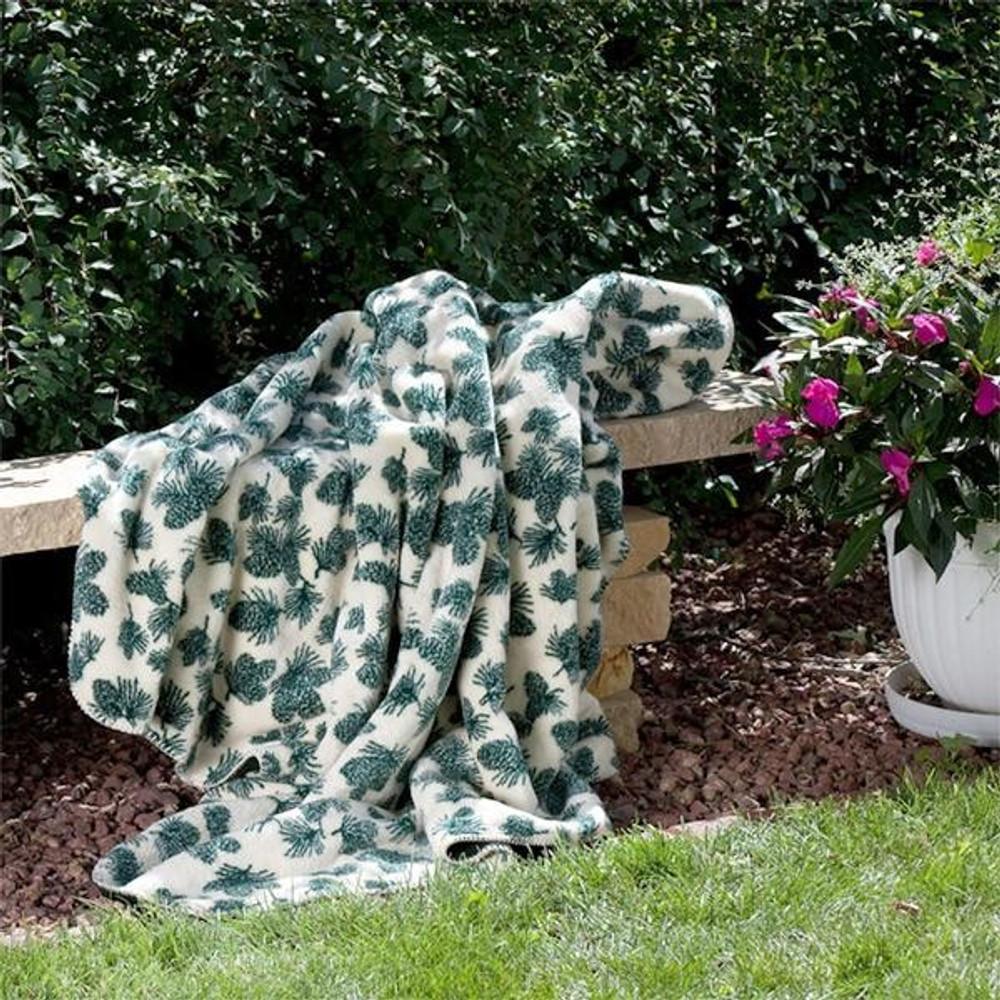Pine Cone Winter Micro Plush Throw Blanket | Denali | 16113972
