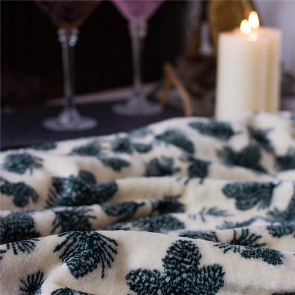 Pine Cone Winter Micro Plush Throw Blanket | Denali | 16113972 -3