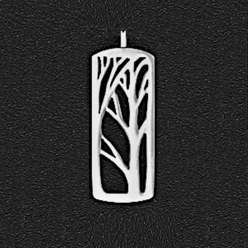 Deep Forest Large Pewter Pendant