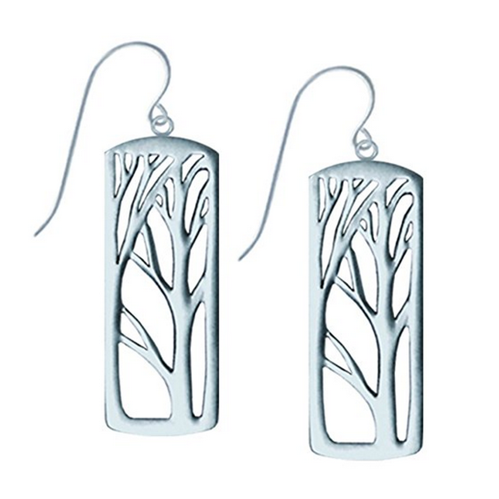 Deep Forest Pewter Drop Wire Earrings| Nature Jewelry | LOVDEDEEP-2