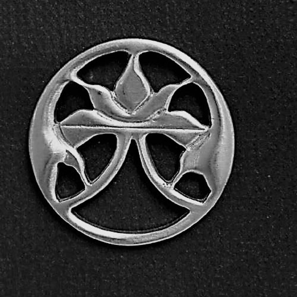 Lotus Pewter Pin | Nature Jewelry