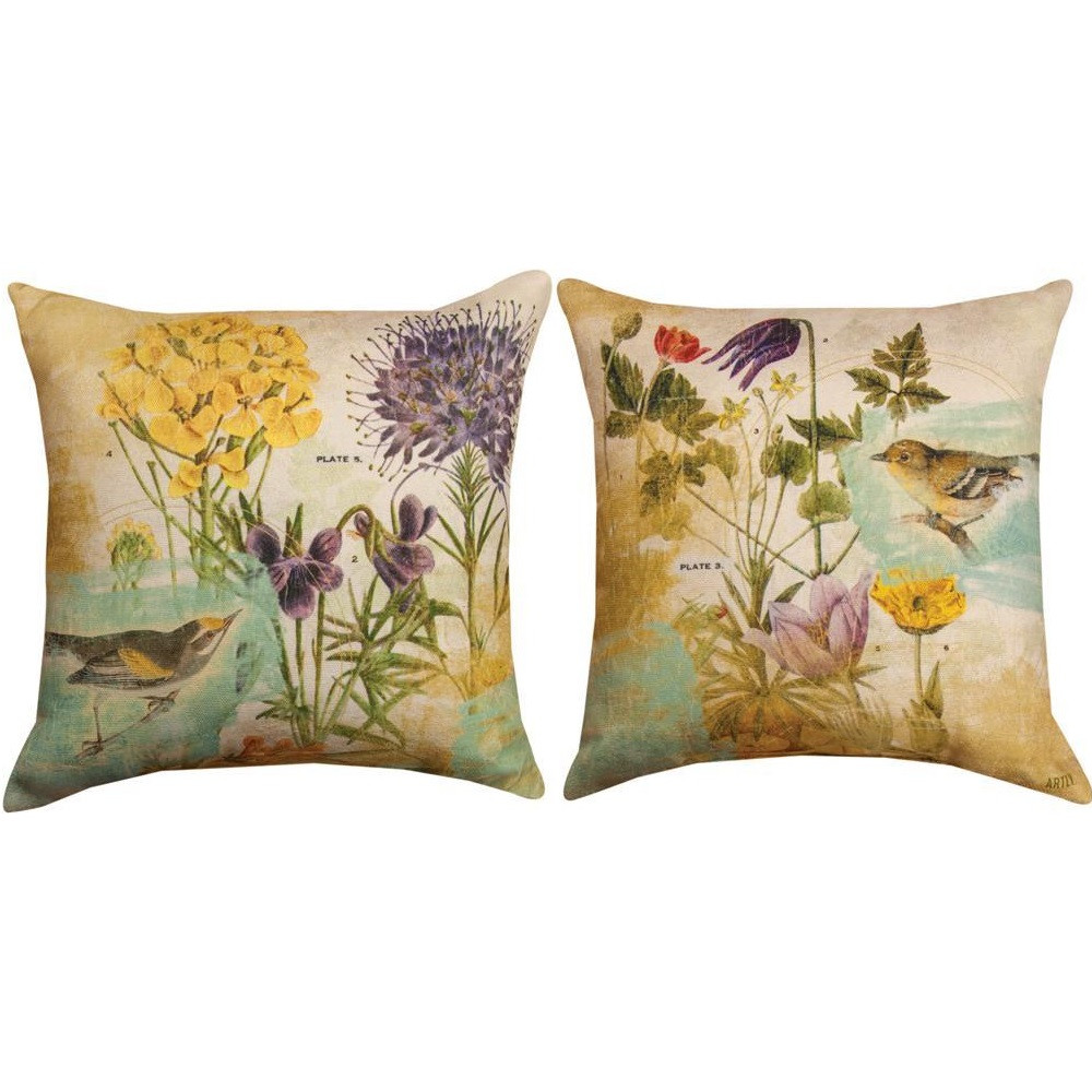 Goldfinch Reversible Throw Pillow | Manual Woodworkers | SLPURP