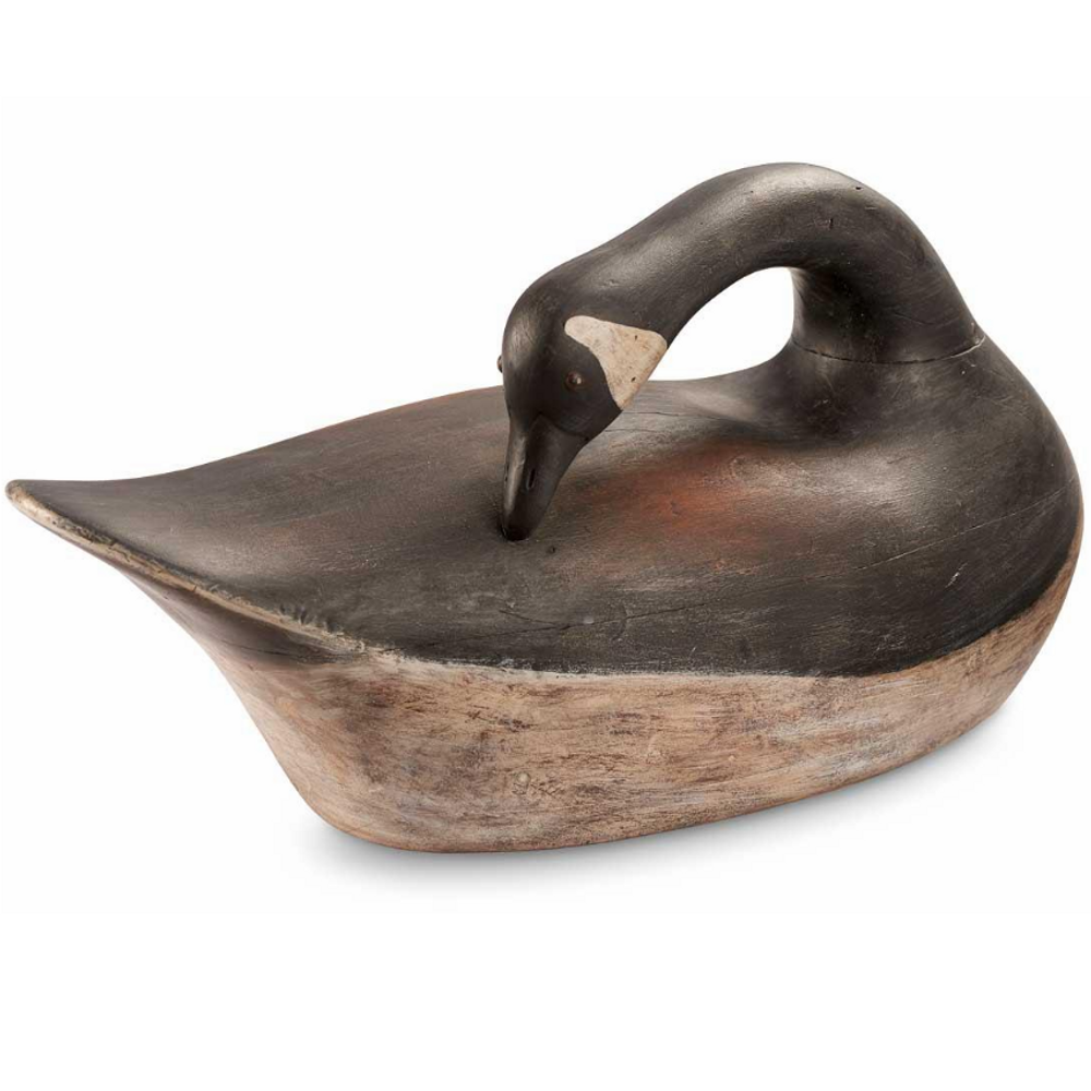 Preening Goose Antique Style Decoy Sculpture | Loon Lake Decoy | 6538600503
