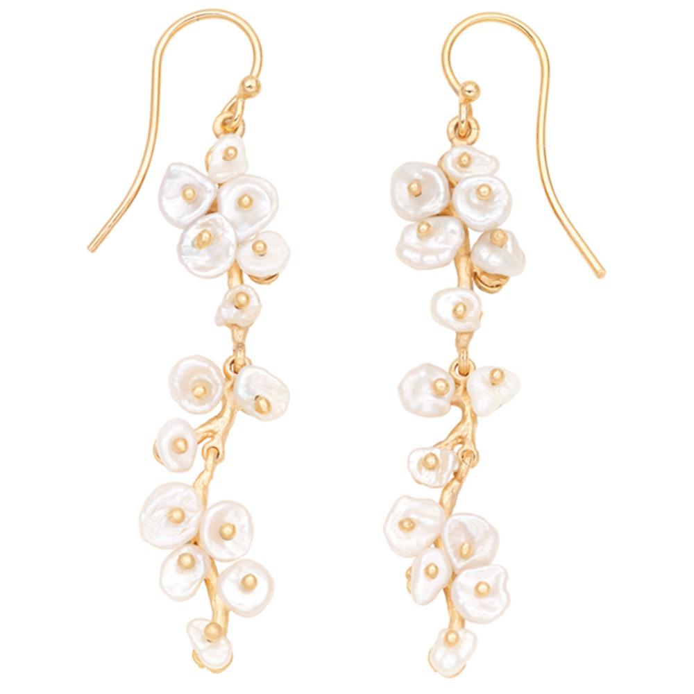 Jasmine Long Dangle Wire Earrings | Michael Michaud Jewelry | 3263bzwp