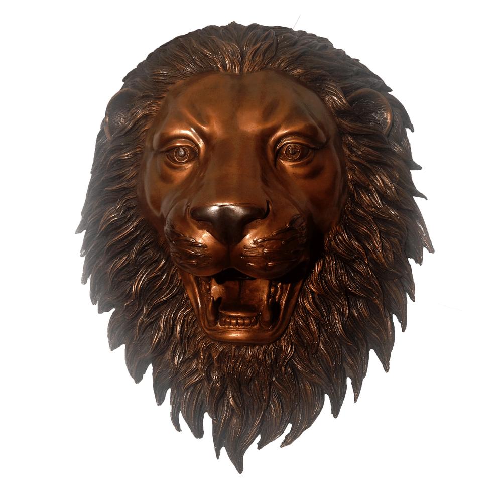 Lion Face Bronze Wall Fountain | Metropolitan Galleries | MGISRB47243-B
