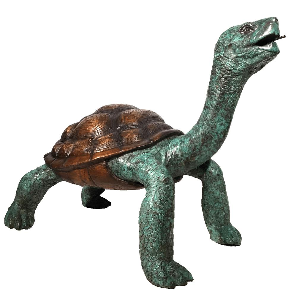 Galapagos Turtle Bronze Fountain Statue | Metropolitan Galleries | MGISRB082054