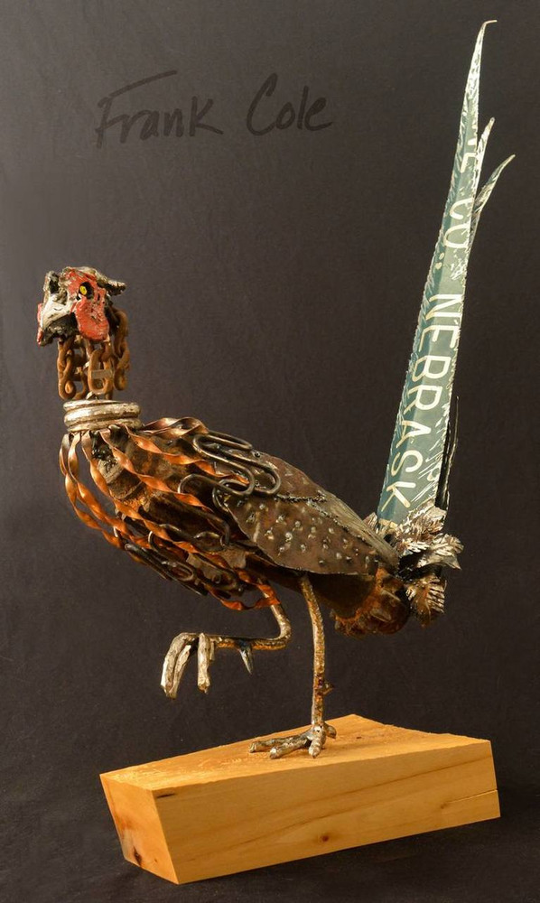 Pheasant Found Metal Sculpture | Looking for Ladies | Frank Cole | FCSLFL