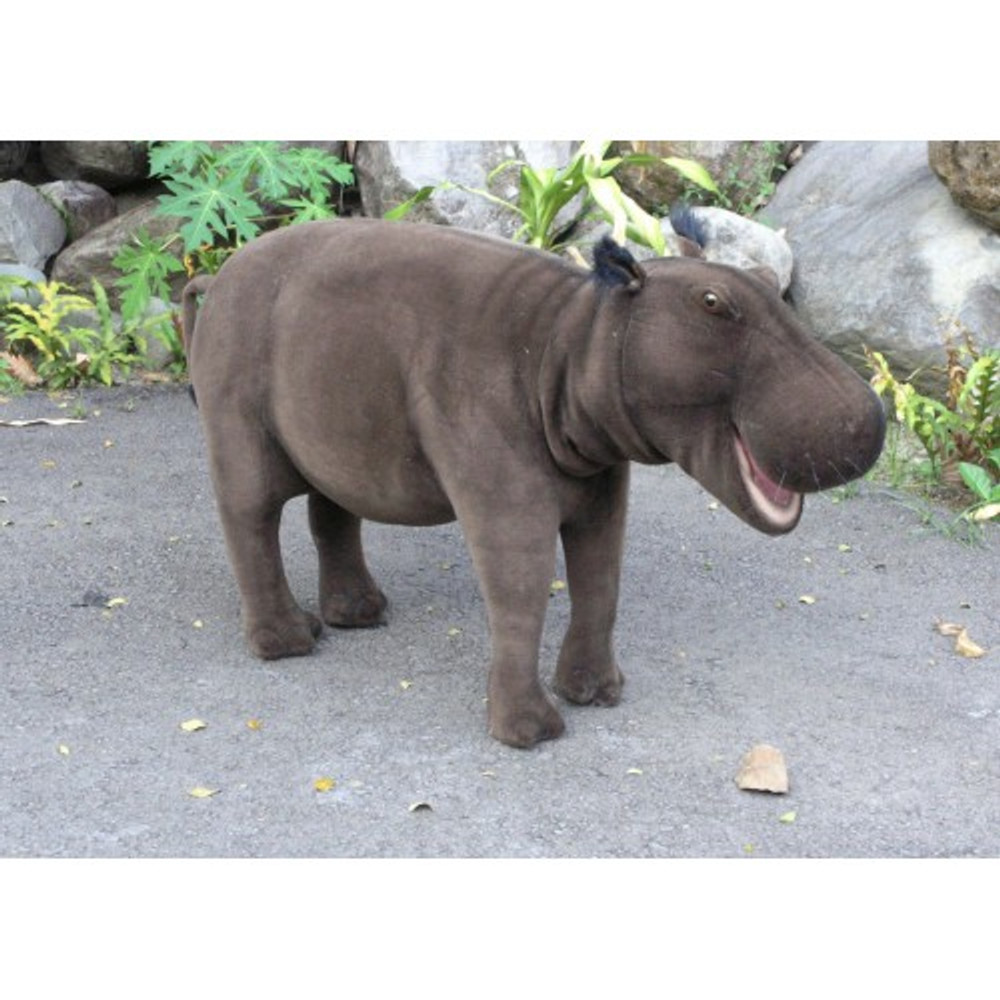 Happy Hippo Ride-On Sutffed Animal | Hansa Toys | HTU3025