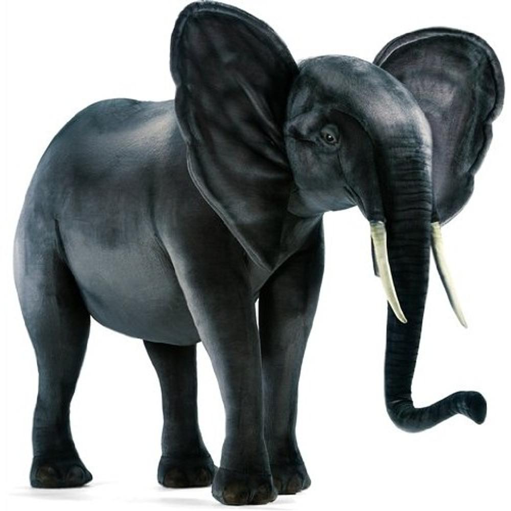 Elephant Super Sized Stuffed Animal   Giant Elephant Plush Statue   Hansa Toys   HTU3234