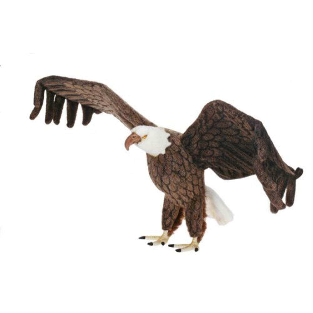 Eagle Life-Sized Stuffed Animal   Plush Eagle Statue   Hansa Toys   HTU3802