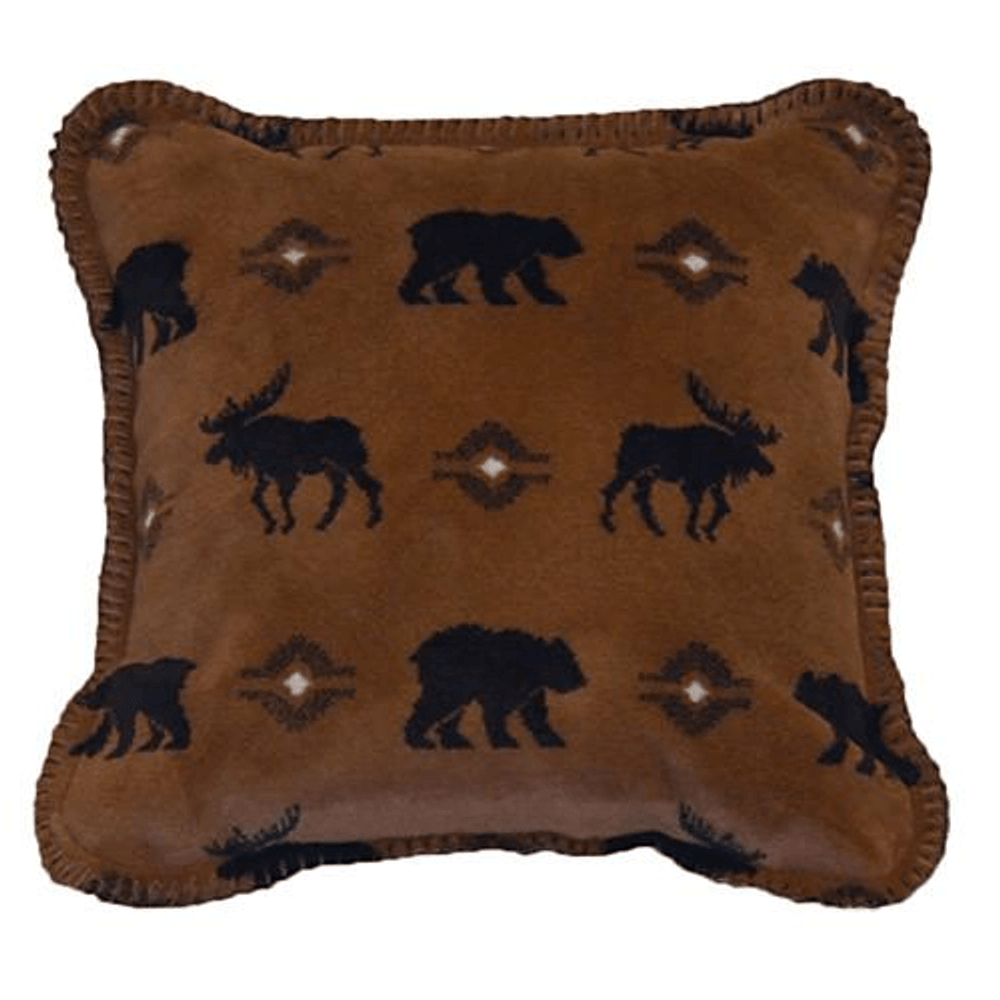Bear and Moose Wilderness Walk Throw Pillow | Denali | DHC35022818