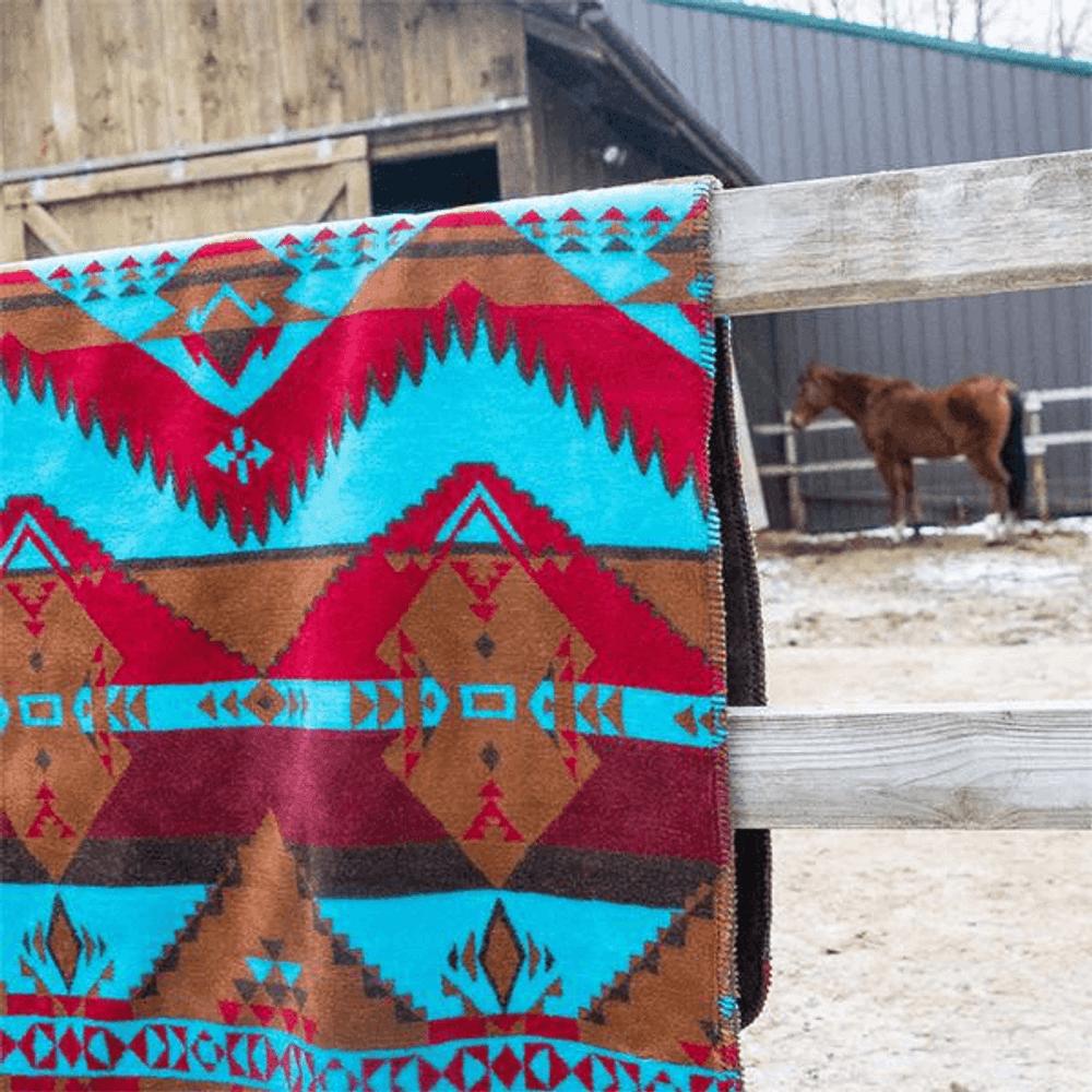 Native Journey Micro Plush Throw Blanket   Denali   DHC16171872