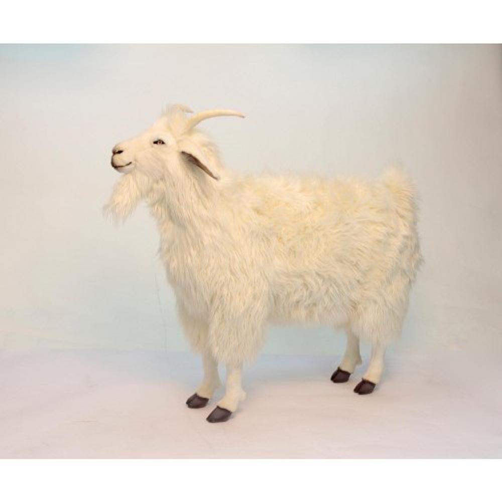 Cashmere Goat Large Stuffed Animal   Plush Goat Statue   Hansa Toys   HTU6186