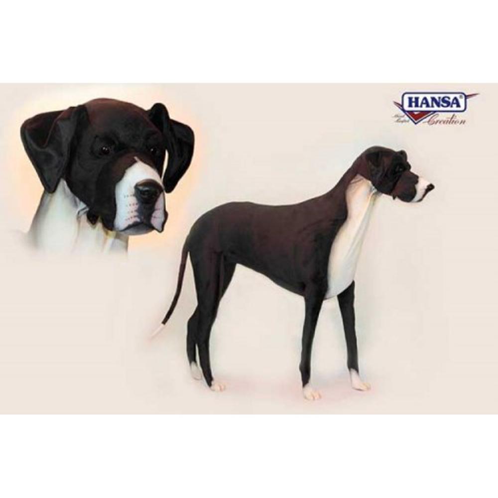 Great Dane Dog Giant Stuffed Animal | Plush Dog Statue | Hansa Toys | HTU6677