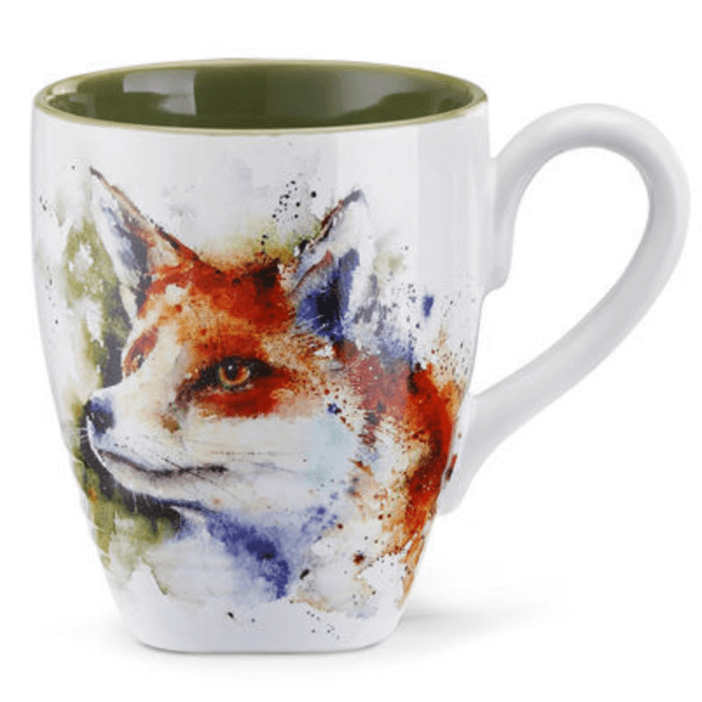 Fox Stoneware Mug   Big Sky Carvers Fox Mug   Dean Crouser
