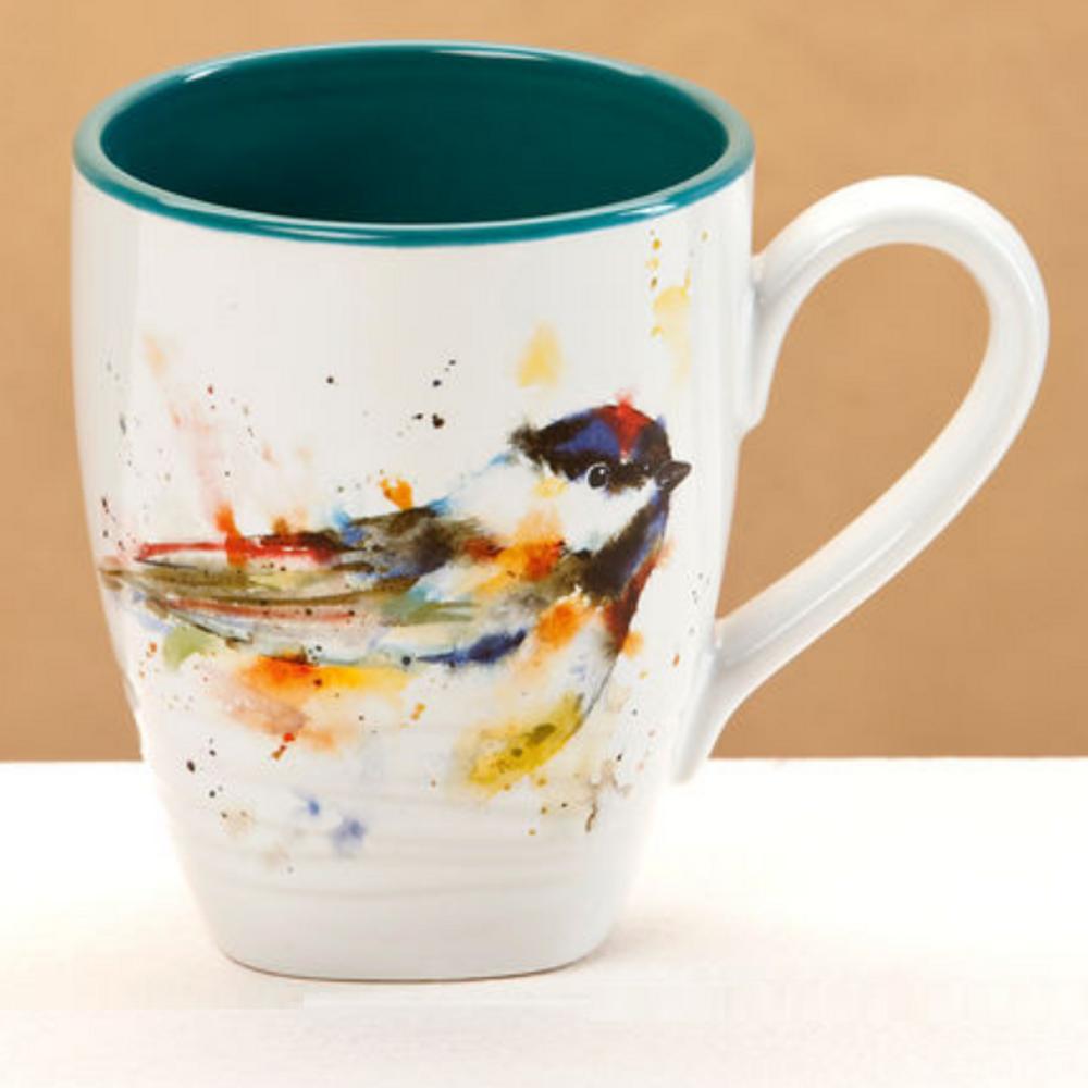 Chickadee Stoneware Mug | Big Sky Carvers Chickadee Mug | Dean Crouser