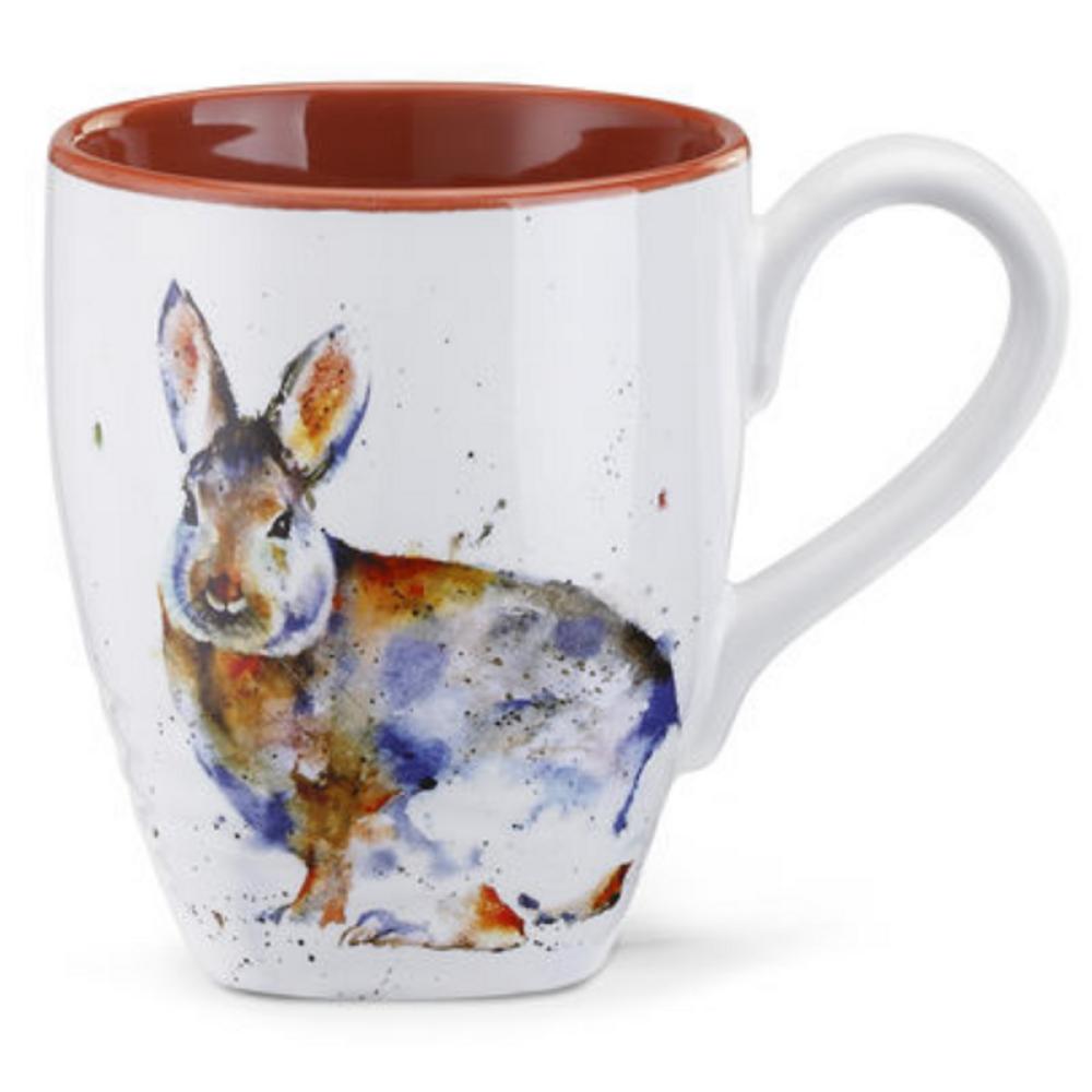 Rabbit Stoneware Mug   Big Sky Carvers Rabbit Mug   Dean Crouser
