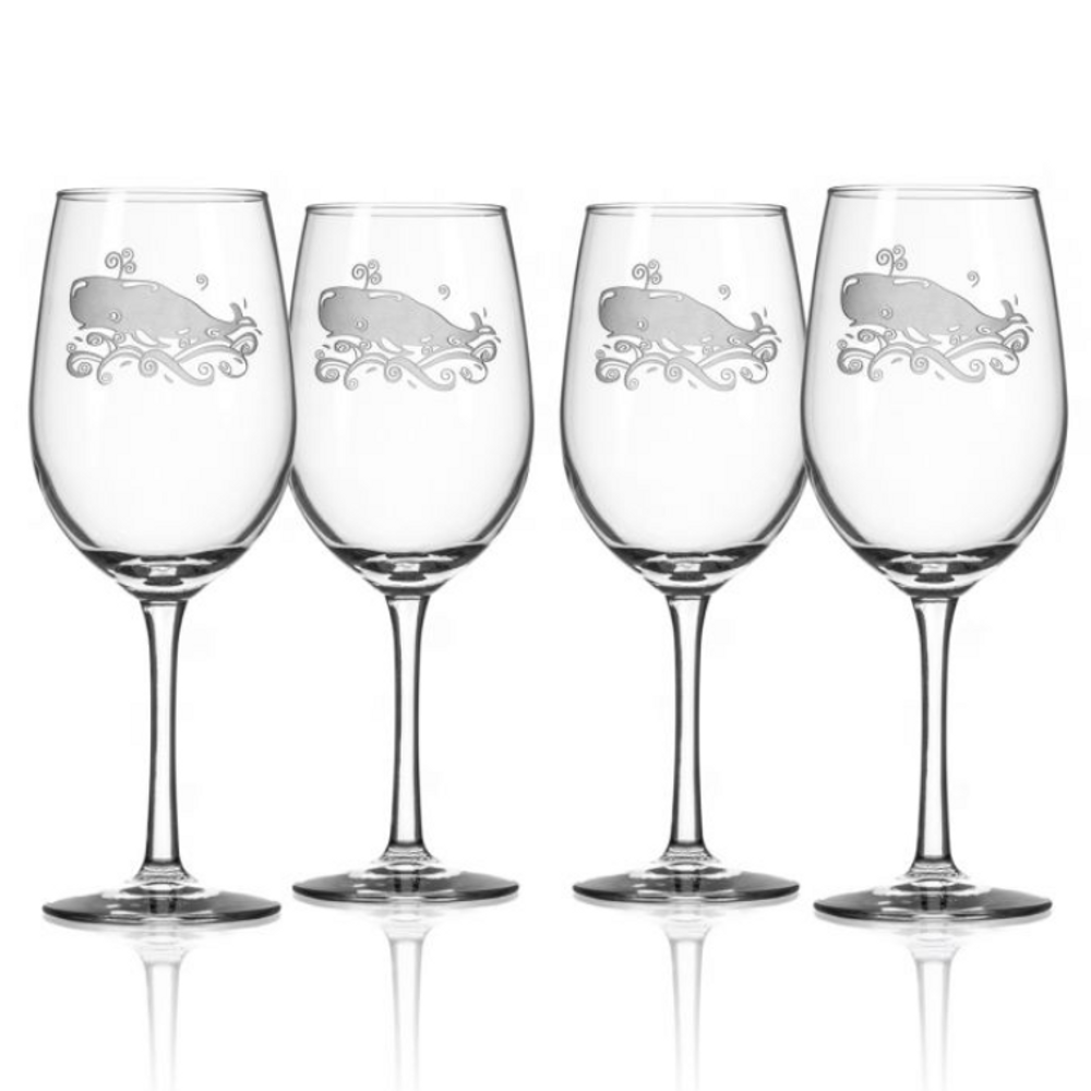 Whale White Wine Glass Set of 4 | Rolf Glass | 237428