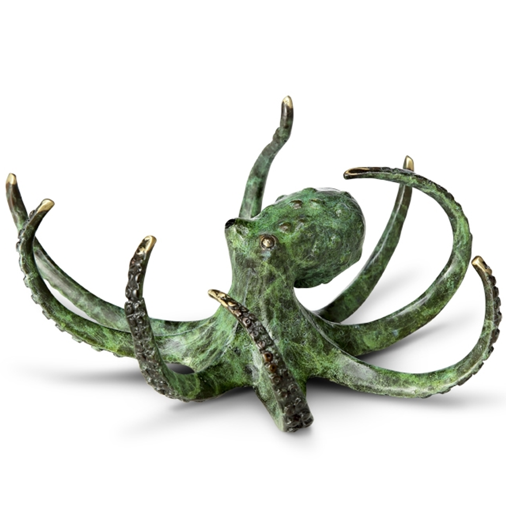 Octopus Brass Sculpture | Elusive Octopus Sculpture | SPI Home | 80360