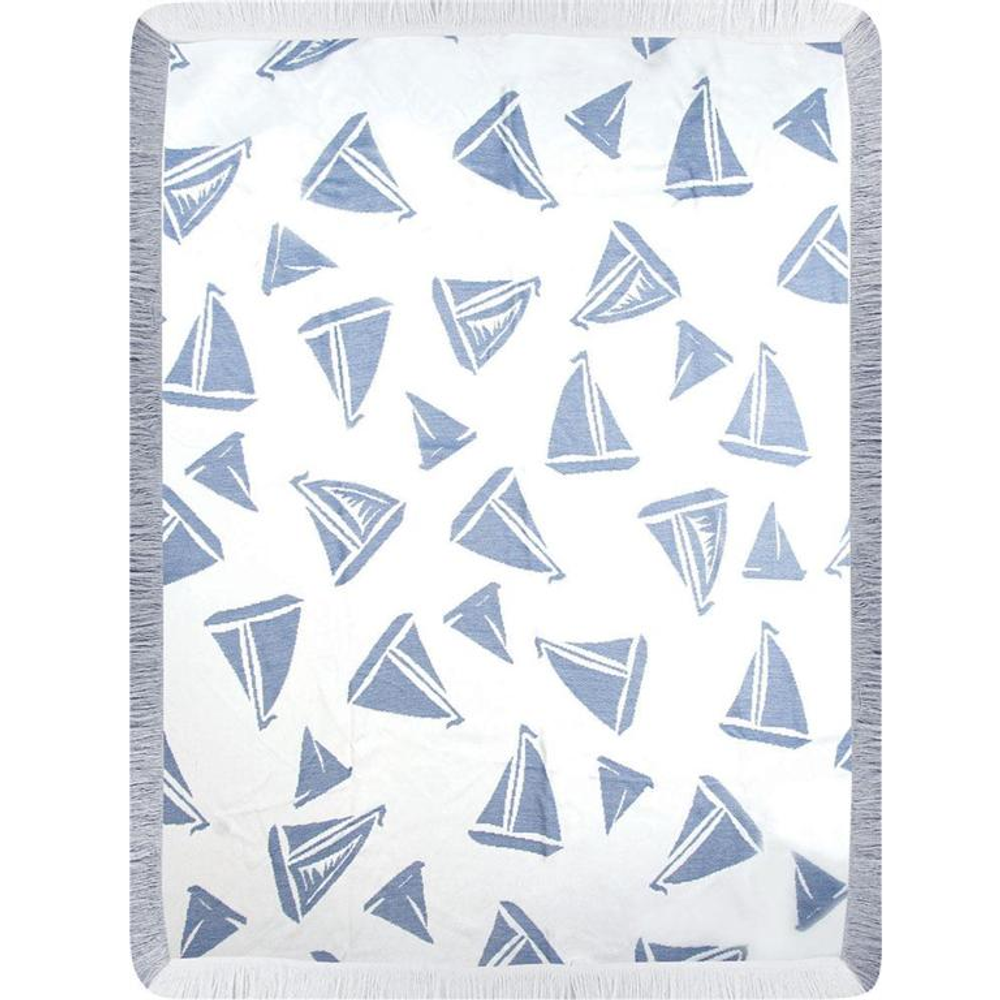 Sailboat Rayon Throw Blanket | Manual Woodworkers | ATRSBN
