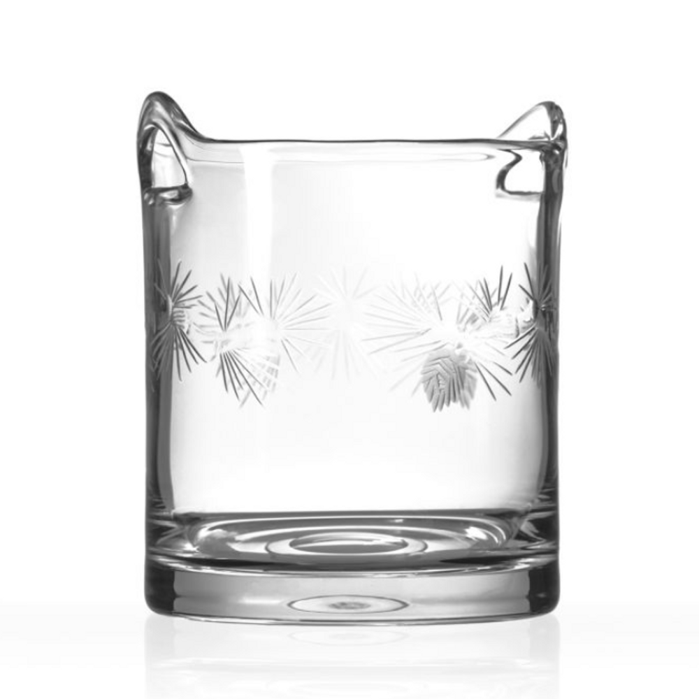 Icy Pine Engraved Glass Ice Bucket | Rolf Glass | 207193