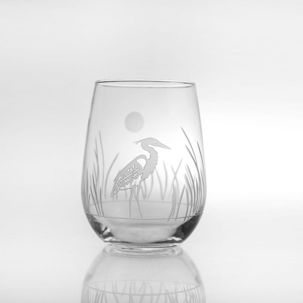Heron Stemless Wine Glass Set of 4 | Rolf Glass | 219332