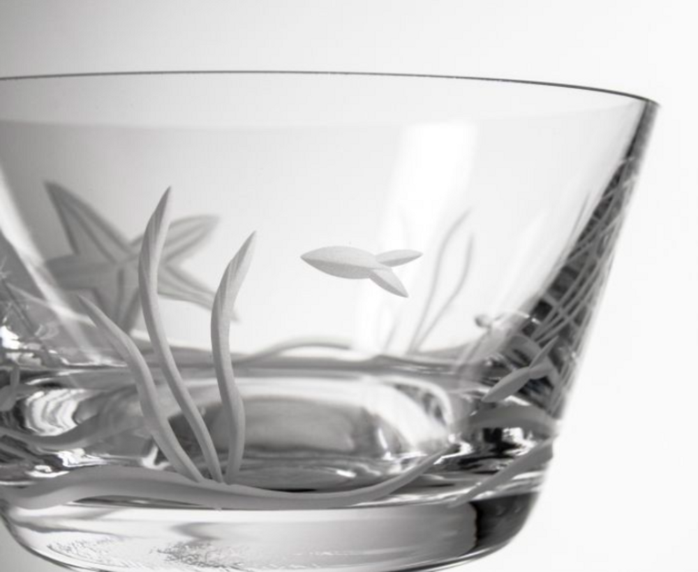 Starfish Engraved Glass Bowl Set of Four   Rolf Glass   400211