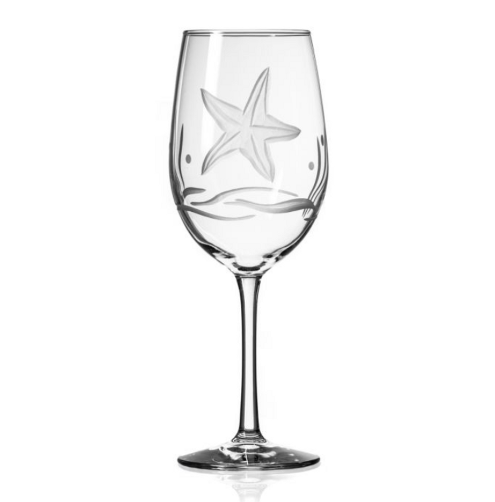 Starfish AP Large Wine Glass Set of 4   Rolf Glass   400266