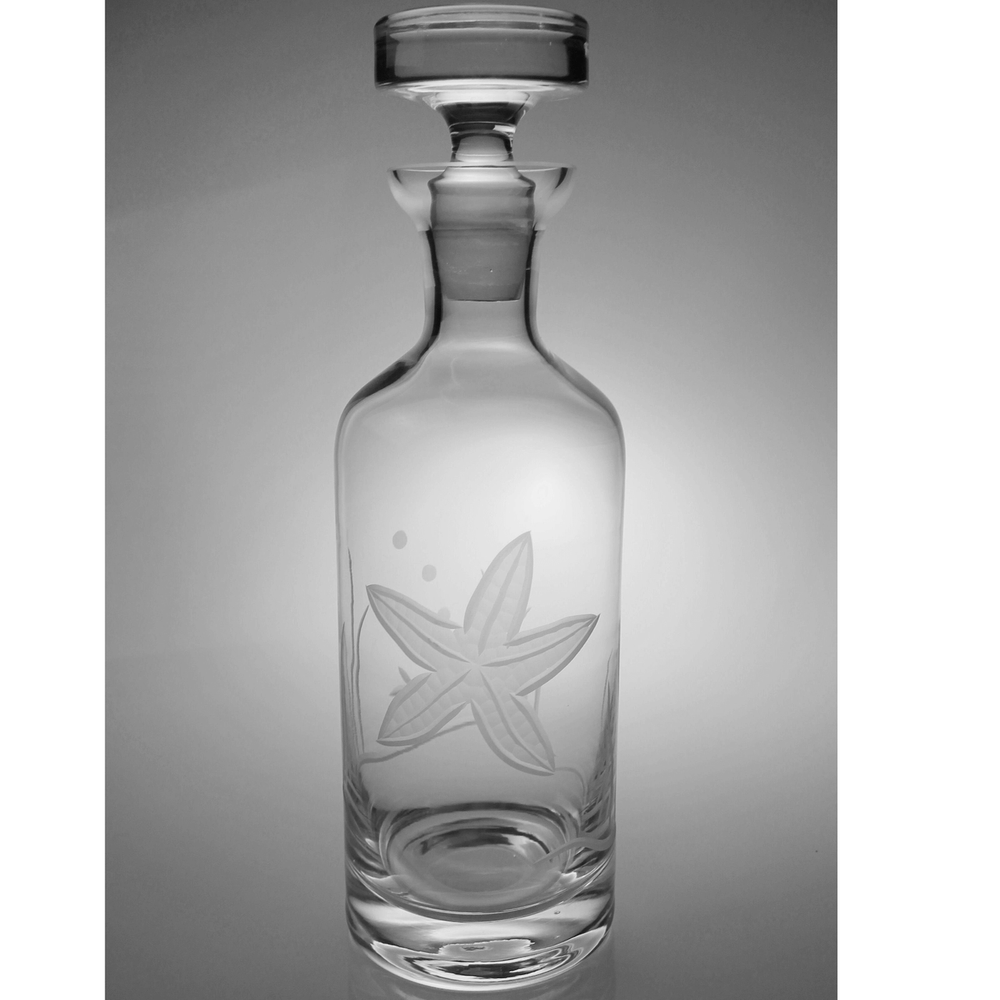 Starfish Engraved Glass Decanter | Rolf Glass | 400822