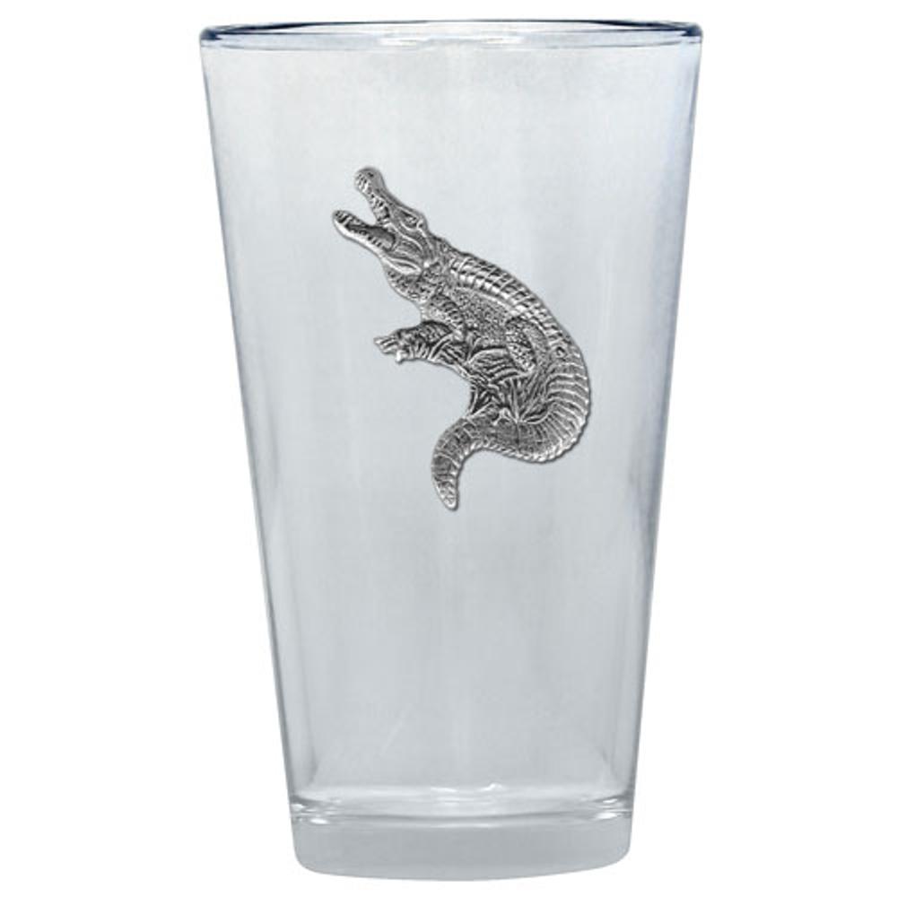 Alligator Pint Glass Set of 2 | Heritage Pewter | PNT3770